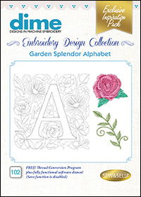 DIME Inspiration Designs - Garden Splendor Alphabet