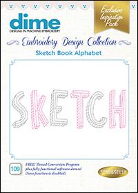 DIME Inspiration Designs - Sketch Book Alphabet