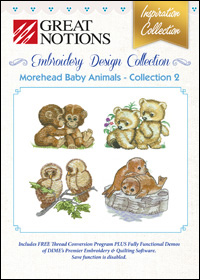 Great Notions Embroidery Designs - Morehead Baby Animals – Collection 2