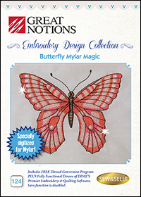 Great Notions Embroidery Designs - Butterfly Mylar Magic