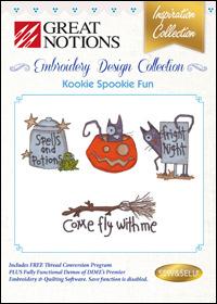 Great Notions Embroidery Designs - Kookie Spookie Fun