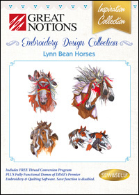 Great Notions Embroidery Designs - Lynn Bean Horses