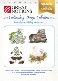 Great Notions Embroidery Designs - Morehead Baby Animals