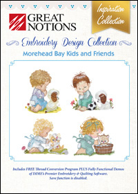 Great Notions Embroidery Designs - Morehead Bay Kids and Friends
