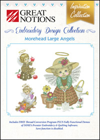 Great Notions Embroidery Designs - Morehead Large Angels