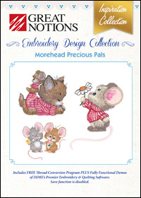 Great Notions Embroidery Designs - Morehead Precious Pals