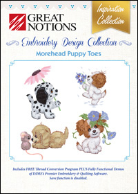 Great Notions Embroidery Designs - Morehead Puppy Toes