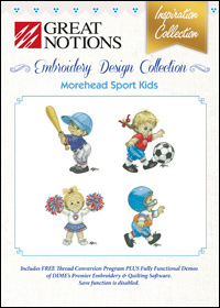 Great Notions Embroidery Designs - Morehead Sport Kids