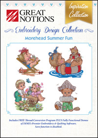 Great Notions Embroidery Designs - Morehead Summer Fun