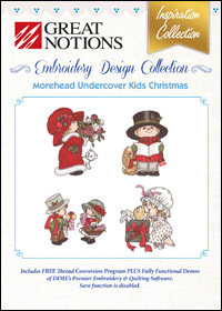Great Notions Embroidery Designs - Undercover Kids Christmas
