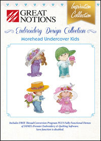 Great Notions Embroidery Designs - Morehead Undercover Kids