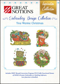 Great Notions Embroidery Designs - Tina Wenke Christmas
