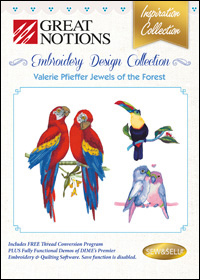 Great Notions Embroidery Designs - Valerie Pfieffer Jewels of the Forest