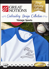 Great Notions Embroidery Designs - Vintage Sports