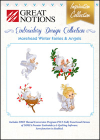 Great Notions Embroidery Designs - Winter Fairies & Angels