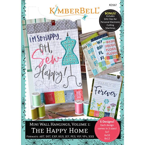 Kimberbell Designs - Mini Wall Hangings, Volume 1, The Happy Home