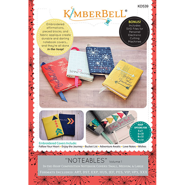 Kimberbell Designs - Notables:  Compostion Notebook Covers, Volume 1