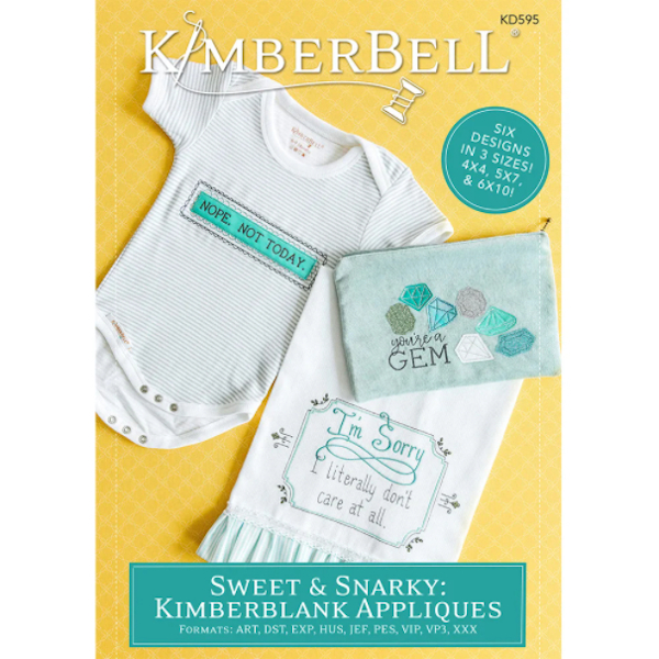 Kimberbell Designs - Sweet & Snarky, Kimbblank Applique