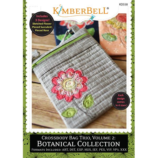 Kimberbell Designs - Crossbody Bag Trio, Volume 2, Botanical Collection