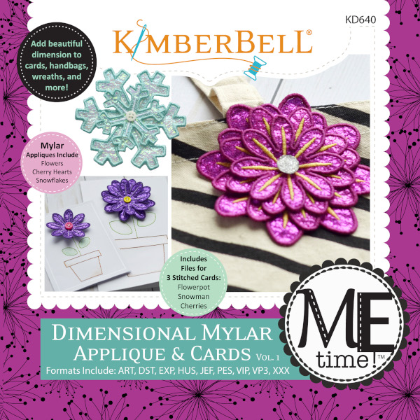 Kimberbell Designs - ME Time:  Dimensional Mylar Applique & Cards, Volume 1