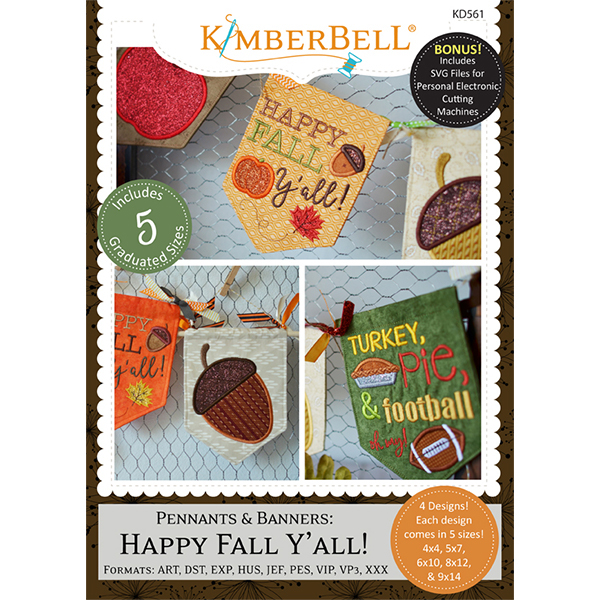 KIMBERBELL DESIGNS - PENNANTS & BANNERS: HAPPY FALL Y'ALL