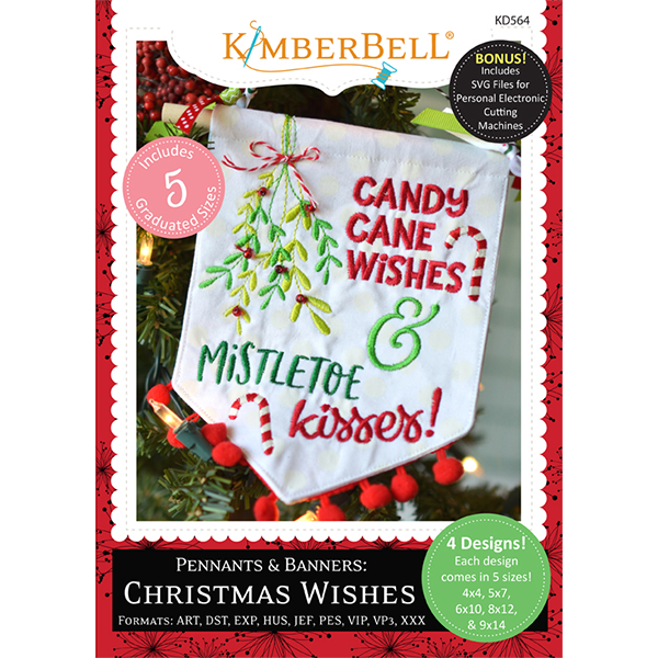 Kimberbell Designs - Pennants & Banners:  Christmas Wishes