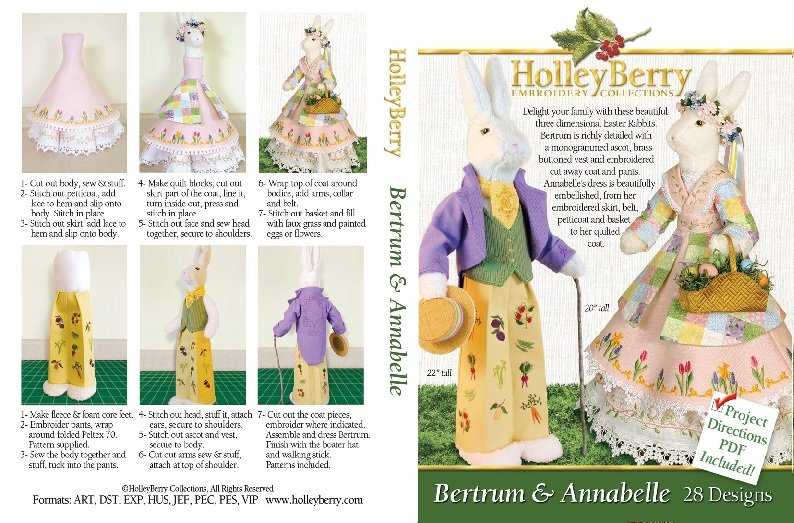 HolleyBerry Annabelle & Bertram Bunny