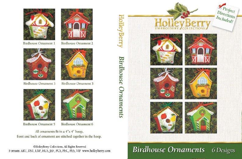HolleyBerry Birdhouse Ornaments