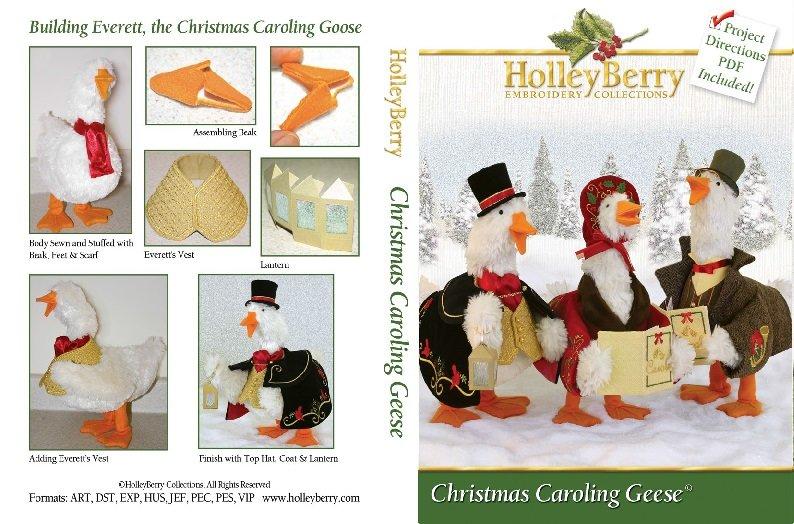 HolleyBerry Christmas Caroling Geese