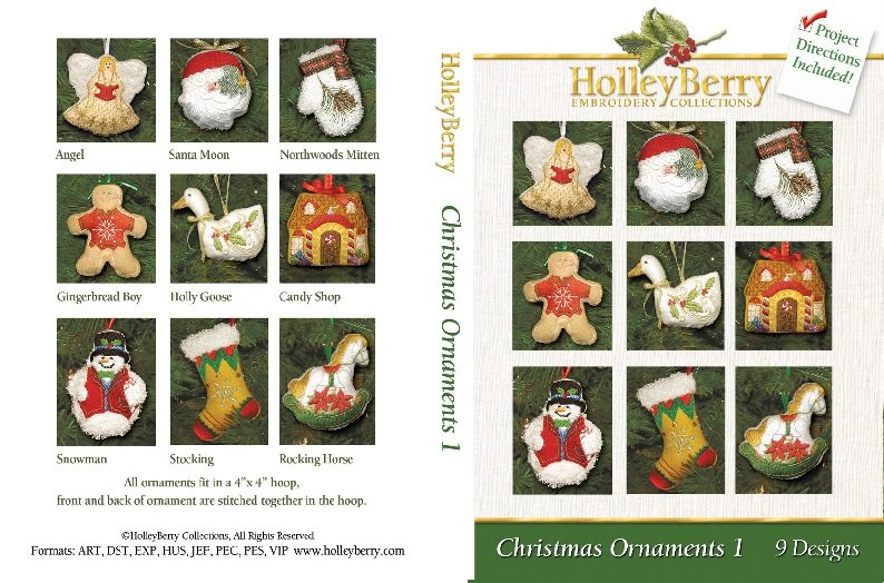 HolleyBerry Christmas Ornaments