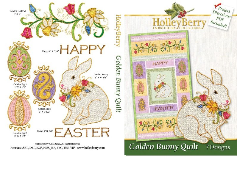 HolleyBerry Golden Bunny Quilt