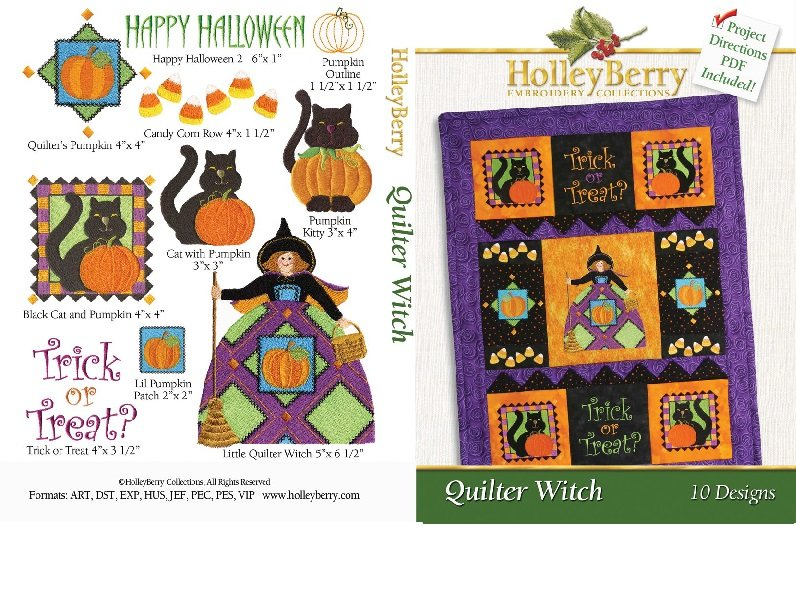 HolleyBerry Quilter Witch