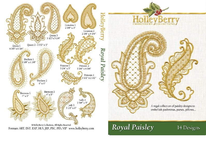 HolleyBerry Royal Paisley