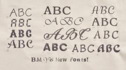 Baby Lock Array 50 Built-in Fonts